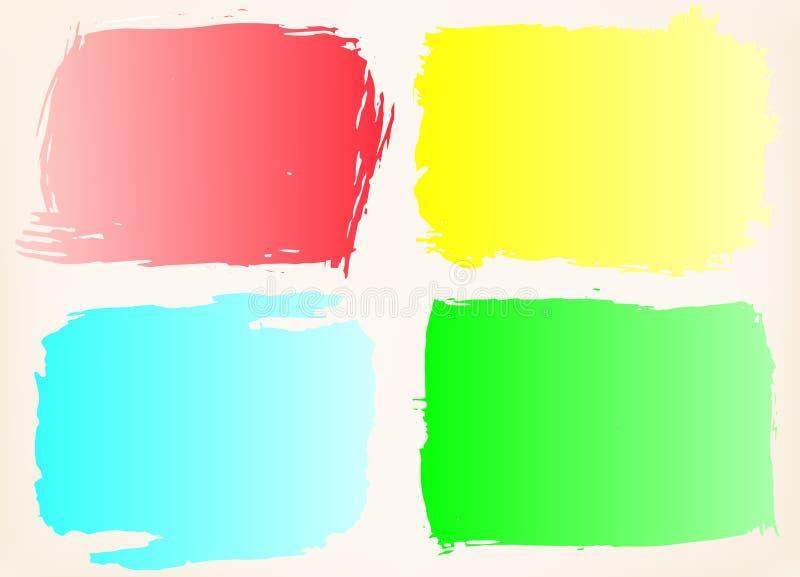 inramnin grungeseten Färggrungebakgrund som för delstiker för design den trevliga mallen som använder den din vektorn royaltyfri illustrationer