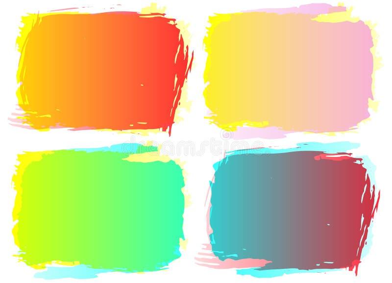 inramnin grungeseten Färggrungebakgrund som för delstiker för design den trevliga mallen som använder den din vektorn vektor illustrationer
