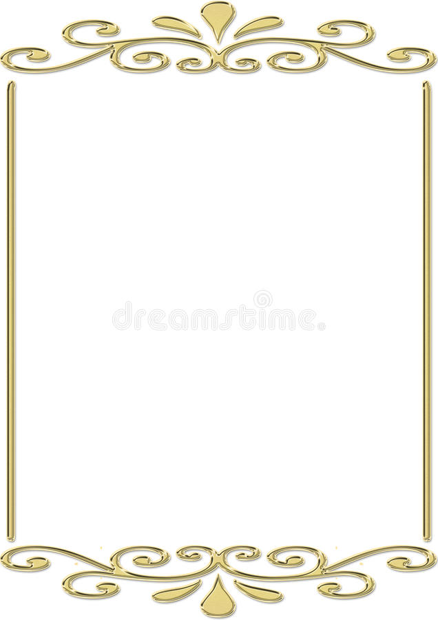 inramnin guld royaltyfri illustrationer