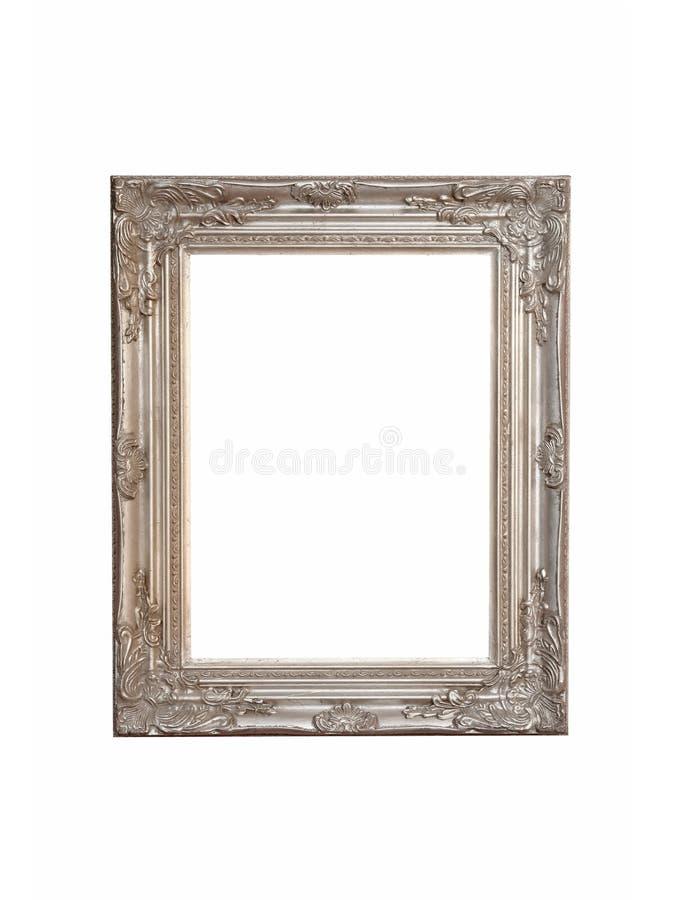 inramnin isolerad silver fotografering för bildbyråer