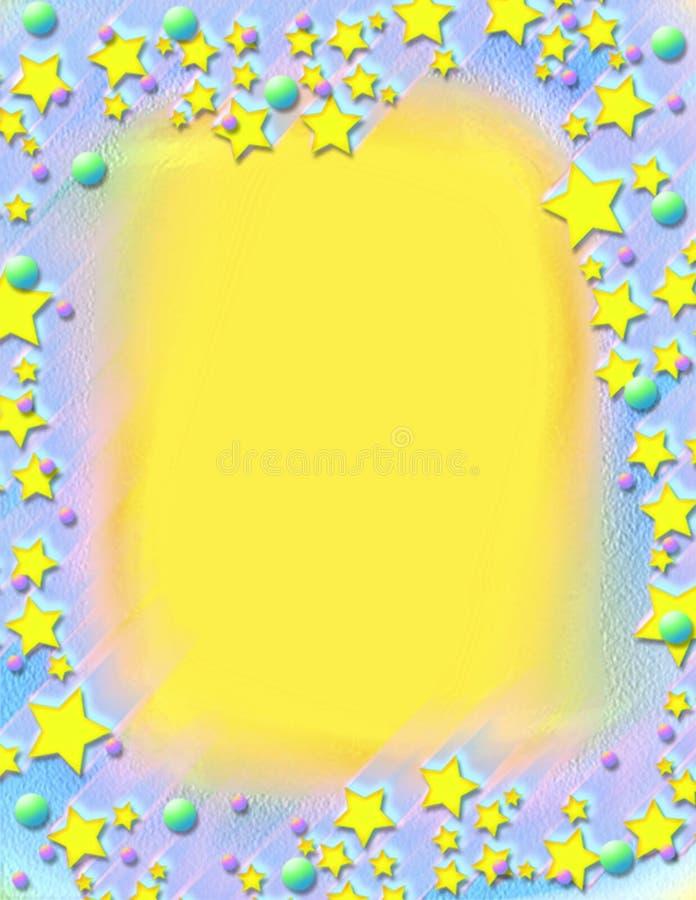 inramnin målade skjuta stjärnor vektor illustrationer