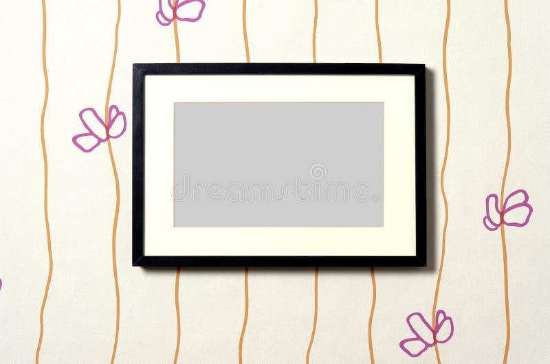 Inramnin på wallpaper 01 stock illustrationer