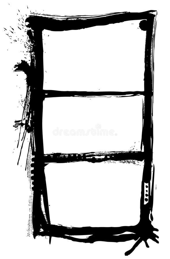 inramniner grunge vektor illustrationer