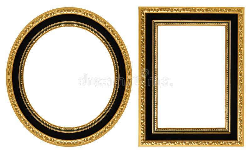 inramniner guldbilden royaltyfria foton