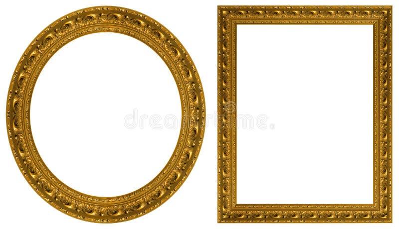 inramniner guldbilden arkivfoton