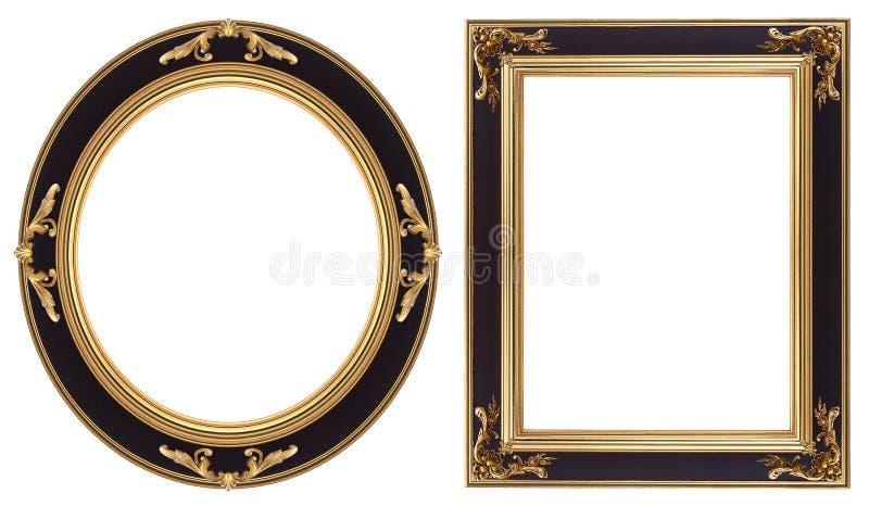 inramniner guldbilden arkivfoto