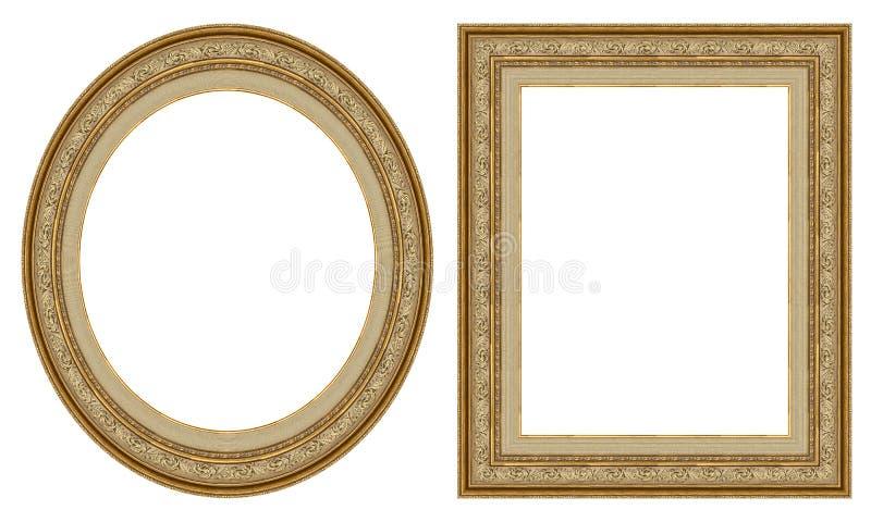 inramniner guldbilden royaltyfria bilder