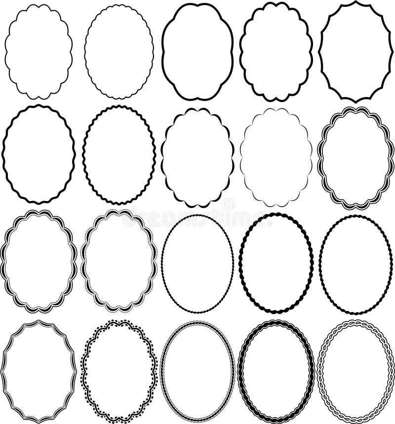 Download Inramniner oval vektor illustrationer. Illustration av profil - 23186745