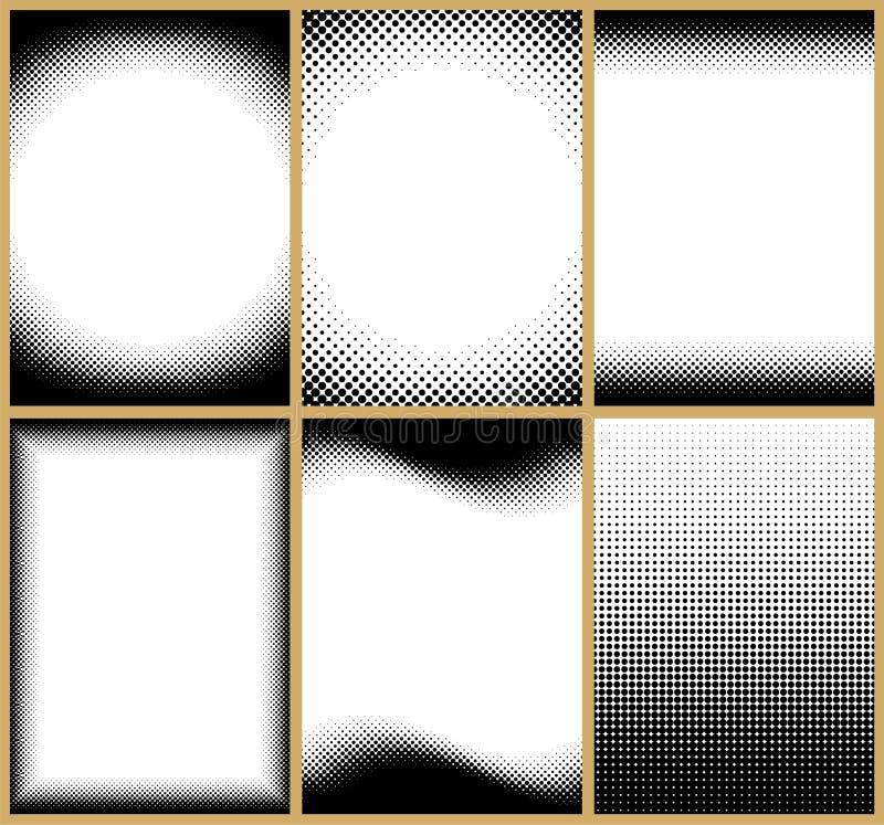 inramniner rastret vektor illustrationer