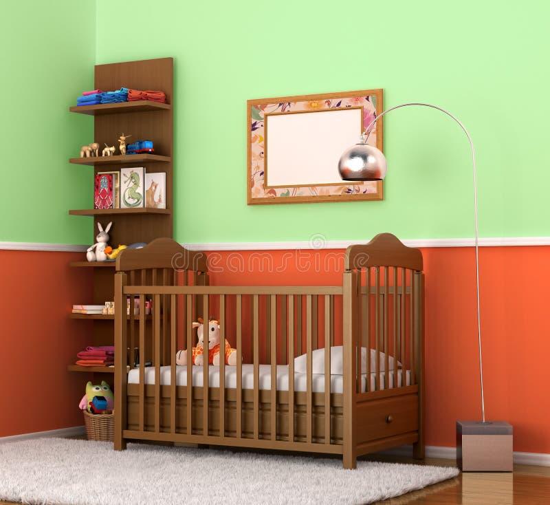 Inre är modern children& x27; s-rum med ljusa väggar vektor illustrationer