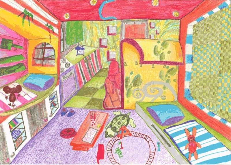 Inre av ögonen av ett barn vektor illustrationer