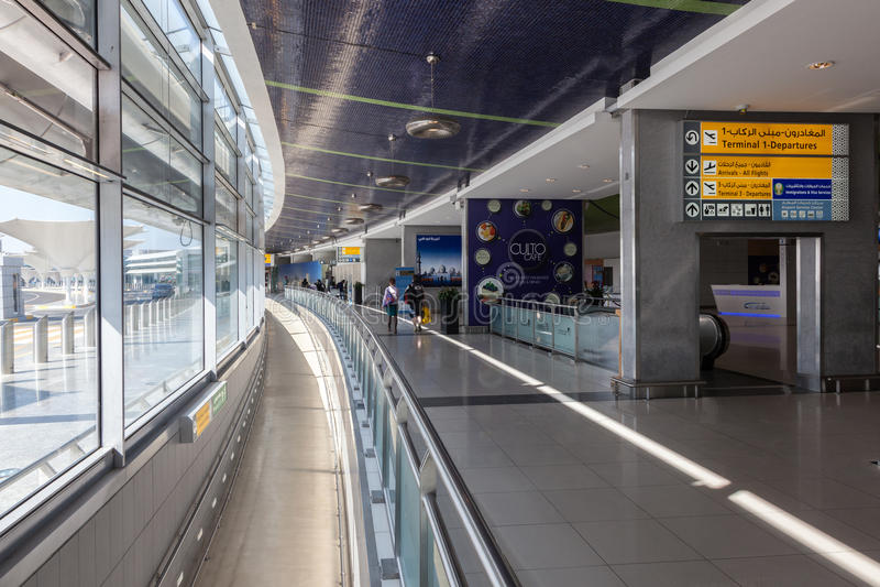 Inre av Abu Dhabi International Airport arkivfoto