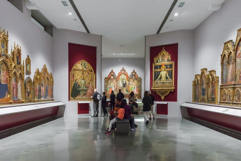 Inre av Art Gallery av akademin i Florence Accademia D royaltyfri bild