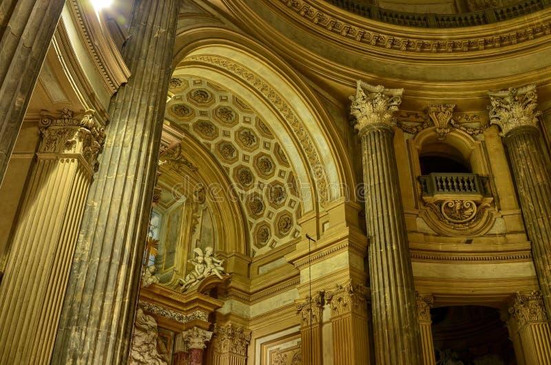 Inre av basilikan di Superga royaltyfri fotografi