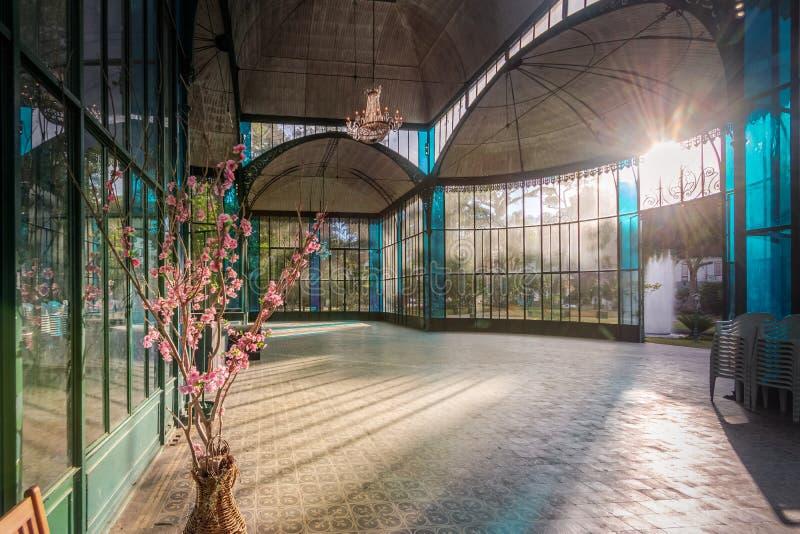 Inre av Crystal Palace eller Palacio de Cristal - Petropolis, Rio de Janeiro, Brasilien royaltyfri foto