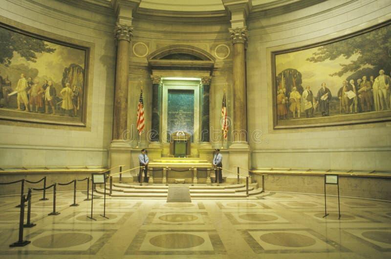 Inre av de nationella arkiven, Washington, D C royaltyfria foton