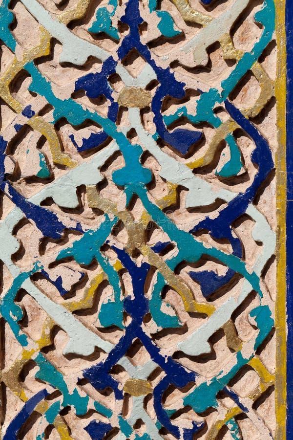 Inre av den gröna mausoleet i Bursa royaltyfria foton