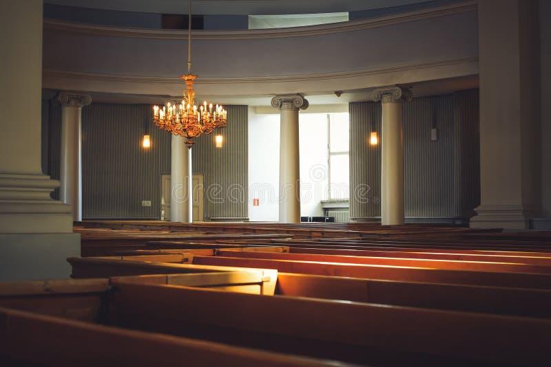 Inre av den helsinki domkyrkan finland arkivbild