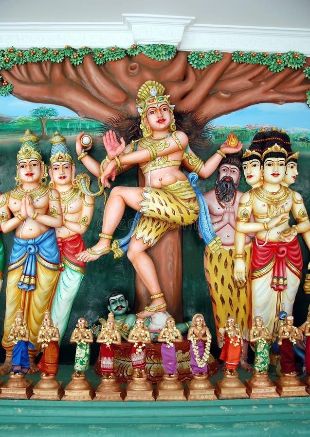 Inre av den hinduiska templet royaltyfria foton