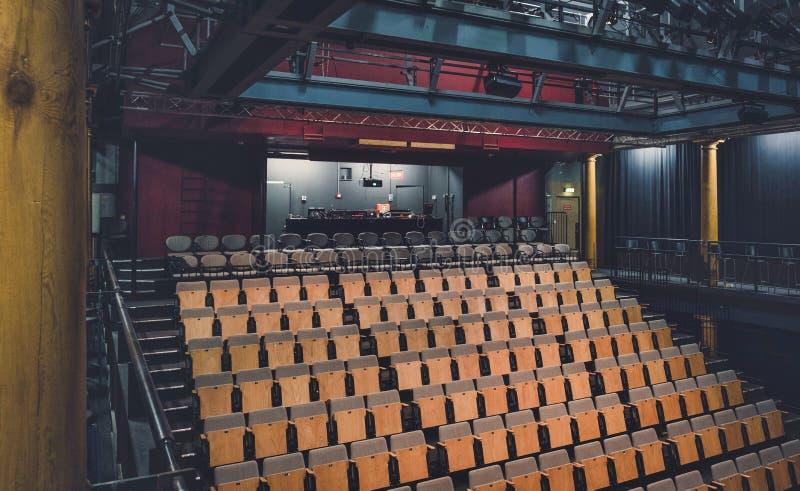 Inre av den holländska teatern royaltyfria bilder