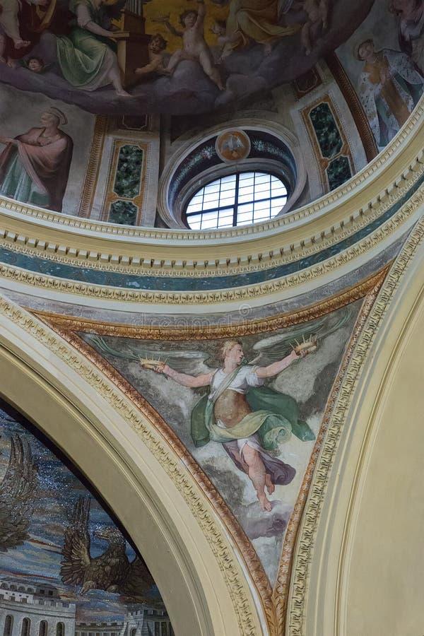 Inre av den kyrkliga Santa Pudenziana, Rome, Italien arkivbild