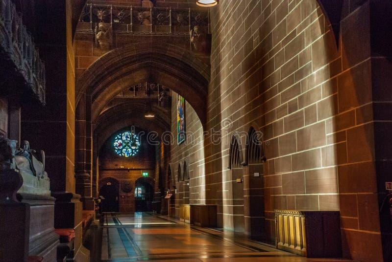 Inre av den Liverpool domkyrkan royaltyfri bild