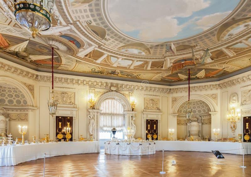 Inre av den Pavlovsk slotten, rysk imperialistisk uppehåll, nea royaltyfria foton
