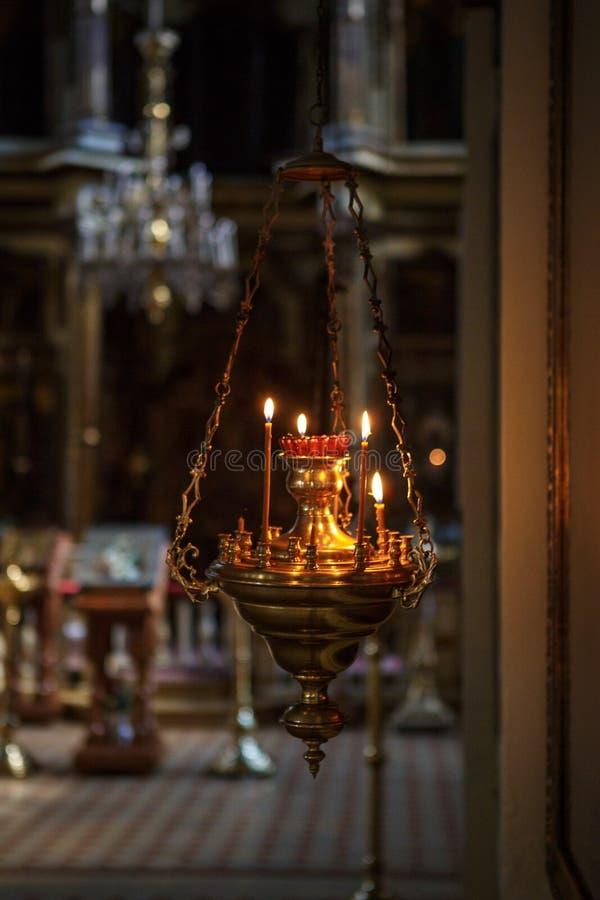 Inre av den ryska ortodoxa kyrkan royaltyfri fotografi