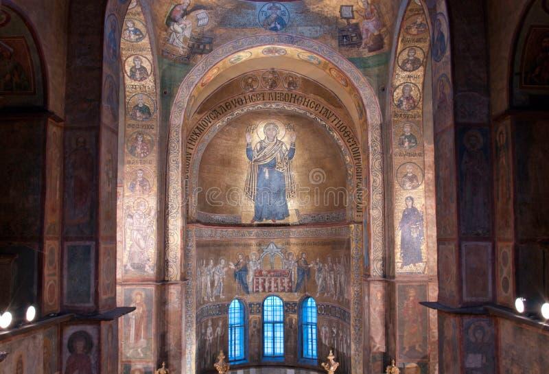 Inre av den Sofia domkyrkan i Kiev royaltyfri foto