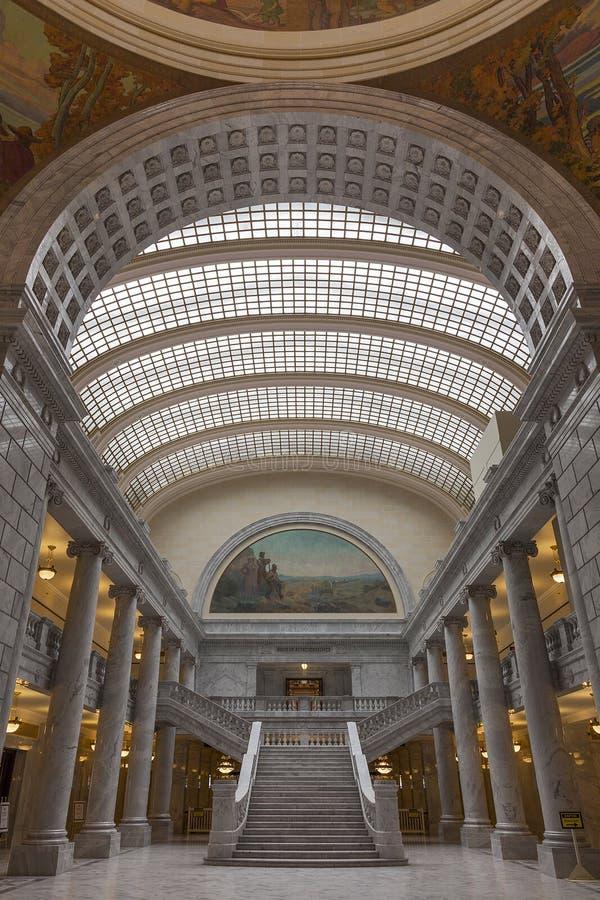 Inre av den statliga Kapitolium av Utah arkivbild