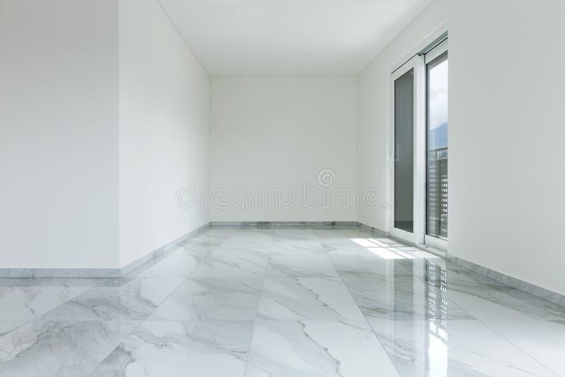 Inre av den tomma lägenheten fotografering för bildbyråer