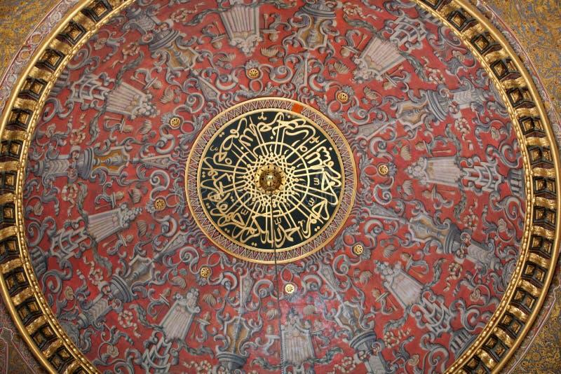 Inre av den Topkapi slotten i Istanbul, Turkiet arkivbild