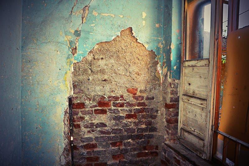 Inre av det abandonded huset fotografering för bildbyråer