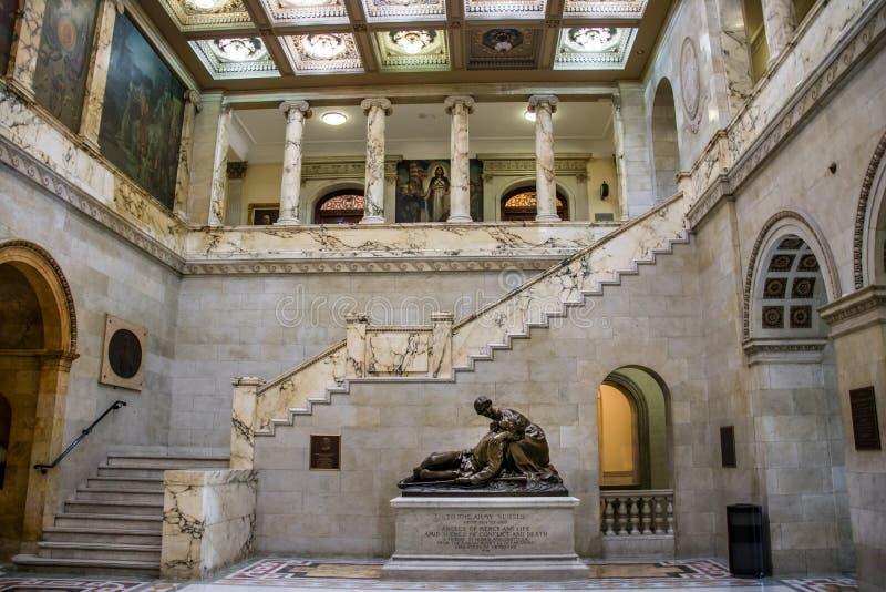 Inre av det Massachusetts tillståndshuset - Boston, Massachusetts royaltyfria bilder