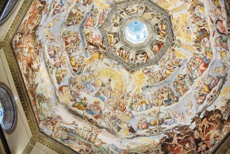 Inre av det Medici kapellet Florence arkivbilder