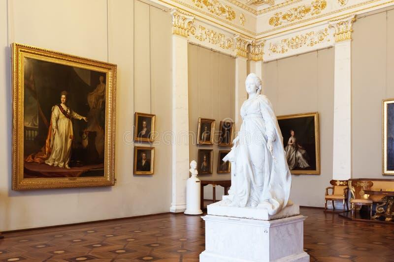 Inre av det statliga ryska museet i St Petersburg, Ryssland royaltyfri foto