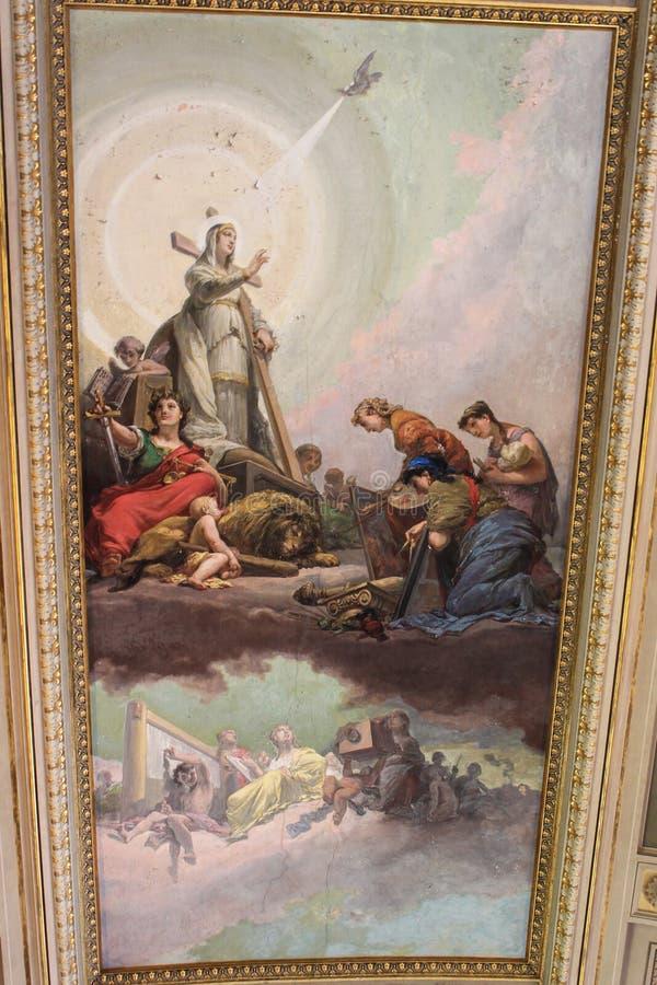 Inre av ett av rummen av Vaticanenmuseet royaltyfri fotografi