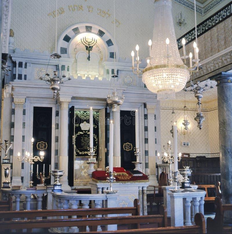 Inre av Gibraltar den flamländska synagogan royaltyfri fotografi