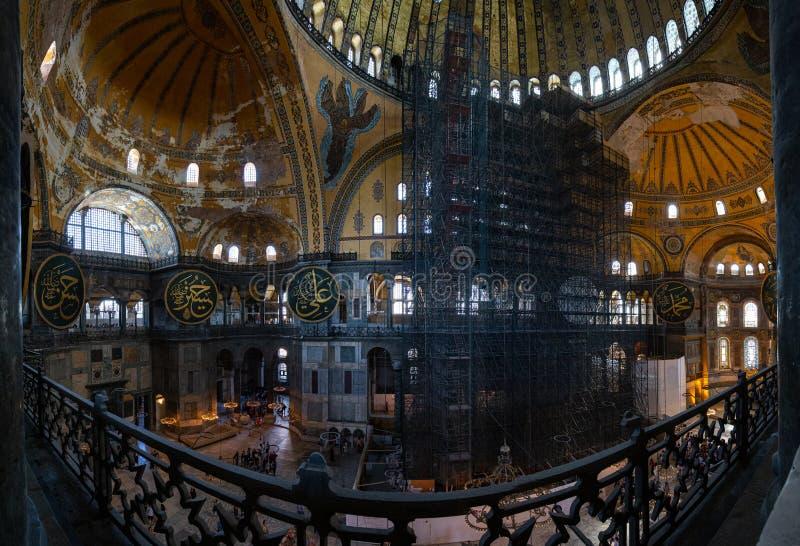 Inre av Hagiaen Sophia Ayasofya royaltyfri bild
