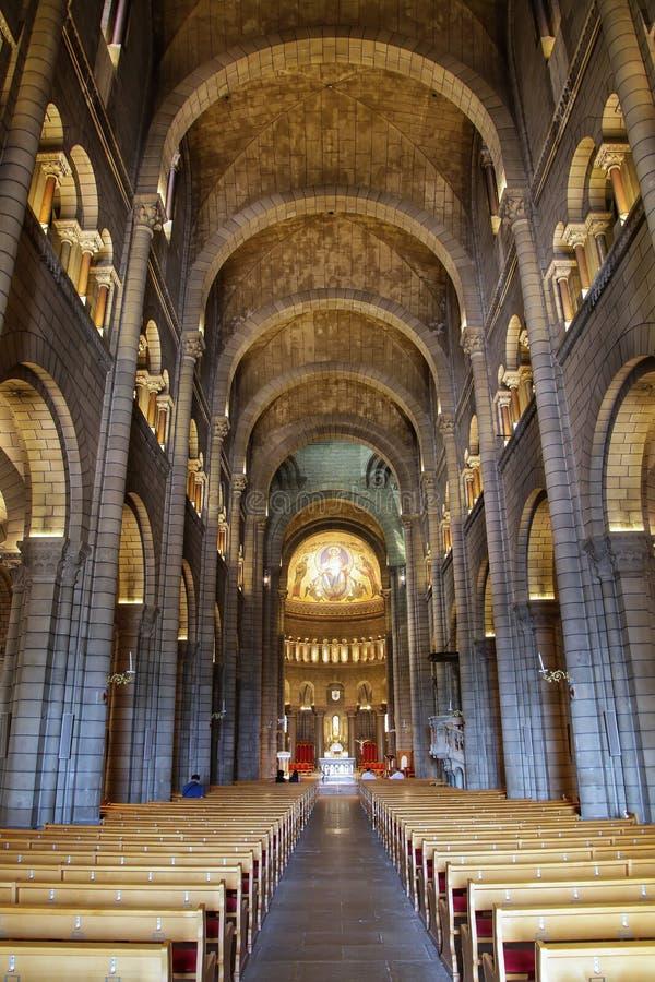 Inre av helgonet Nicholas Cathedral i Monaco-Ville, Monaco fotografering för bildbyråer