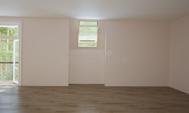 Inre av kök och vardagsrum, innan fullföljande fotografering för bildbyråer