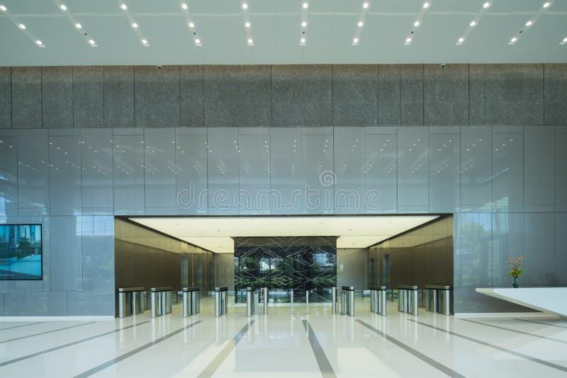 Inre av kontors lobby royaltyfria foton