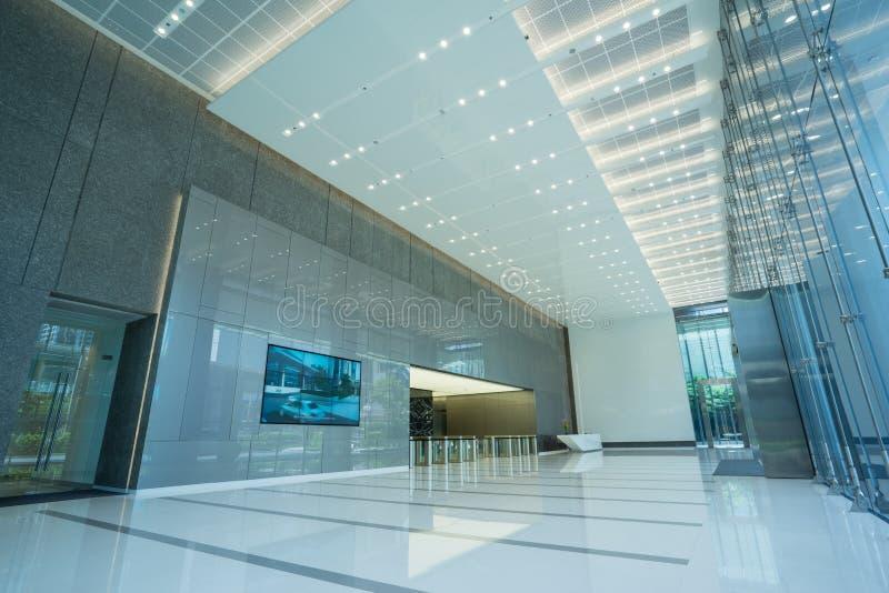 Inre av kontors lobby fotografering för bildbyråer