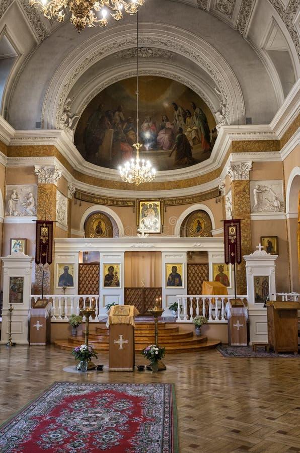 Inre av kyrkan av St Catherine arkivfoto