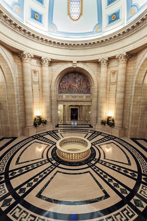 Inre av Manitoba lagstiftnings- byggnad i Winnipeg fotografering för bildbyråer