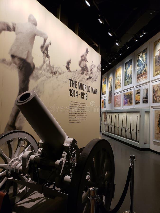Inre av museet Kansas Missouri för världskrig I arkivfoto