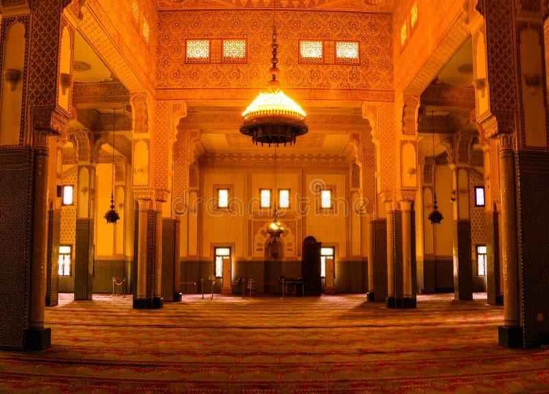 Inre av Niamey den storslagna moskén i Niamey, Niger fotografering för bildbyråer