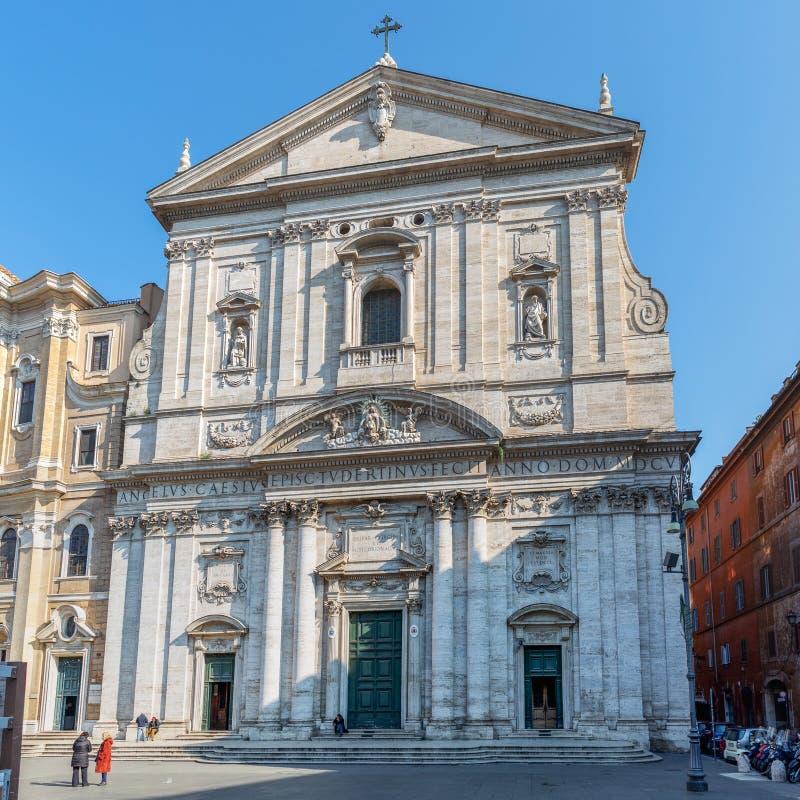 Inre av Santa Maria i Vallicella, kallade också Chiesa Nuova i Rome, Italien arkivfoton