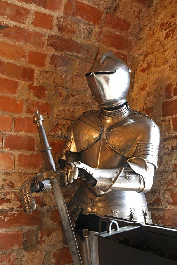 Inre av slotten i Trakai lithuania arkivfoton