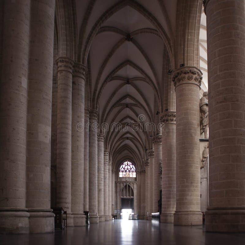 Inre av St Michael och domkyrkan för St Gudula fotografering för bildbyråer